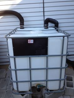 Instructables website shares how to make a 275 gallon rain barrel rainwater catchment system for your home. Rainwater is amazing to water your garden with Homestead Survival, Camping Survival, Survival Prepping, Emergency Preparedness, Survival Skills, Survival Blog, Survival Equipment, Emergency Preparation, Emergency Kits