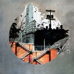 Fractal Disjunction by Liz Brizzi City Collage, Collage Art, Photomontage, Painting Inspiration, Art Inspo, Urbane Kunst, A Level Art, Gcse Art, Environmental Art