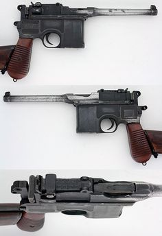 mauser broomhandle Sides/Top the inspiration for Han Solo's blaster.