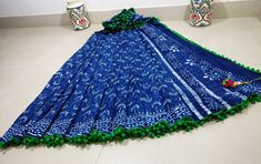Mul cotton pom-pom lace sarees with blouse | Buy Online pom pom indigo i9 Sarees | Elegant Fashion Wear