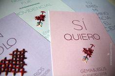 Láminas bordadas para celebrar el amor todos los días. www.reinadereyes.wordpress.com