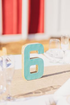 wedding table number.