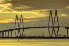 Fred Hartman Bridge Sunset II - Houston, Texas - © 2013 Mabry Campbell