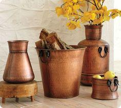 Pottery Barn beaten copper vessles, Image Source twicelovely.com