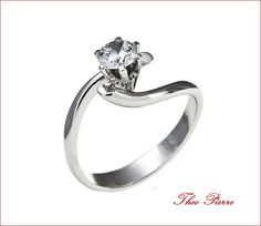 Birthday Solitaire Ring Single Stone Ring Gold by TheoPierre Gold Wedding Rings, Bridal Rings, Gold Rings, Gold Solitaire Ring, Jewelery, Jewelry Rings, Stone Rings, Small Businesses, Fashion Rings