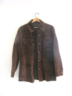 vintage brown suede leather by dirtybirdiesvintage