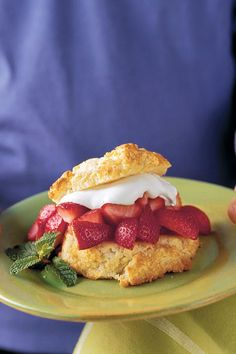 With juicy strawberries spooned over sweet and tender biscuits, old-fashioned strawberry shortcakes are the perfect dessert. If the berries are very sweet, decrease the sugar to suit your taste. Drop the dough easily by using a lightly greased 1/3-cup dry measure.  Recipe:Classic Strawberry Shortcake