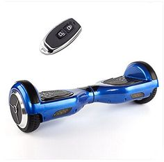 Moonet Two Wheels Smart Self Balancing Unicycle Scooters Drifting Board Electric Remote Control With LED Light Blue