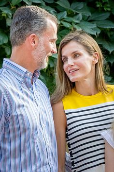 King Felipe of Spain and Queen Letizia of Spain attend the summer photocall on July 31, 2017 in Palma de Mallorca, Spain.