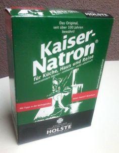 HOLSTE Original KAISER NATRON - 5x50 g  Natron Pulver für Küche Haus Reisen