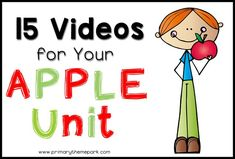 Apple Unit for Kindergarten and First Grade Preschool Apple Theme, Fall Preschool, Kindergarten Science, Preschool Themes, Preschool Apples, Kindergarten Apple Theme, Preschool Apple Activities, Daycare Themes, Kindergarten Readiness