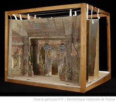 [Aïda : Acte I, tableau 1 : salle du palais du Pharaon : maquette de décor en volume / Emile Daran] - 1880