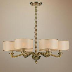 "Crystorama Luxo Collection Antique Brass 30"" Wide Chandelier - #P9693 | LampsPlus.com"