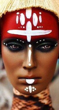 Resultado de imagen de tribal color faces