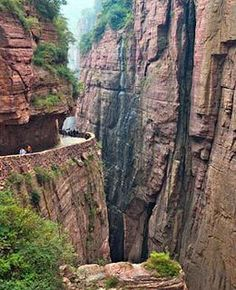 "guoliang tunnel road china- ""the road that allows for no mistakes"""
