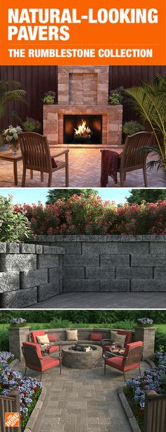 With a variety of styles to choose from and multiple configuration options, these blocks and pavers allow you to get creative and build the backyard of your dreams. Explore the Rumblestone collection and the Rockwall collection to discover what works for Backyard Patio Designs, Backyard Projects, Backyard Landscaping, Patio Ideas, Landscaping Ideas, Backyard Ideas, Pathway Ideas, Sloped Backyard, Diy Projects