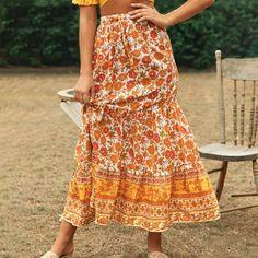 Bohemian floral print beach skirt women 2020 summer lace up ruffle min – cuteshoeswear womens skirts outfits jeaned skirt outfits casual skirts skirt style #uniformskirtoutfit #scalloppedskirt #styleskirt #casualskirts Long Skirts For Women, Long Maxi Skirts, Casual Skirts, Ladies Skirts, Bohemian Maxi Skirt, Cute Skirt Outfits, Flower Skirt, Beach Skirt, Floral Print Skirt