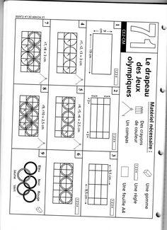 Les jeux olympiques (5) : et la géométrie - Le livre de Sapienta Cycle 3, Diagram, Education, Classroom, Olympic Flame, Small Notebook, Olympic Games, Tulip, Outer Space