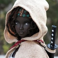 beautiful doll <3 gorgeous!!! THIS IS THE CHARACTER FROM WALKING DEAD...MICHONNE
