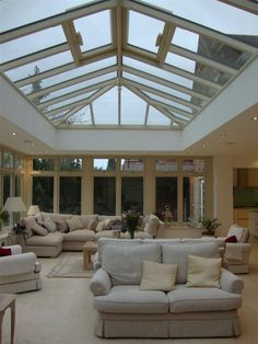 Designed specifically for a client this roof lantern was built with the hardwood windows