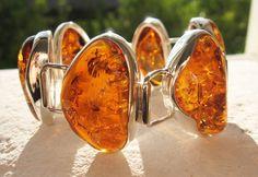 Amber Jewellery - Amber bracelets - Baltic amber and sterling silver. Amber Earrings, Amber Bracelet, Amber Jewelry, I Love Jewelry, Bohemian Jewelry, Gemstone Jewelry, Jewelry Bracelets, Silver Jewelry, Jewelry Design