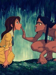 Tarzan is now on Netflix! One of my favourite Disney movies Walt Disney, Disney Magic, Disney Couples, Movie Couples, Disney And Dreamworks, Disney Pixar, Disney Characters, Disney Films, Tarzan Disney