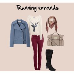 """Running errands"" by Krasimira Running, Polyvore, Image, Style, Fashion, Racing, Moda, La Mode, Keep Running"