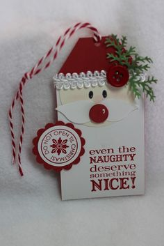 pinterest tag christmas card | Kim's Scrappy Space: Naughty Santa Tag | Christmas Cards
