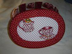 Caixa de chá em patchcolagem