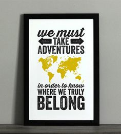 World Adventure Typographic Map Print | Art Prints | The Oyster's Pearl | Scoutmob Shoppe | Product Detail