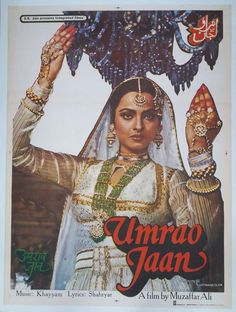 India Bollywood 1981 Umrao Jaan x Poster Rekha Naseeruddin Shah Old Bollywood Movies, Bollywood Posters, Bollywood Cinema, Vintage Bollywood, Bollywood Party, Bollywood Fashion, Movie Posters For Sale, Cinema Posters, Sale Poster