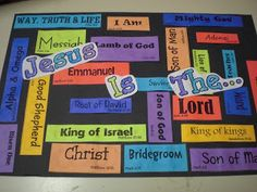 Names of Jesus Printable: Jesus Is The....--use with Isaiah lessons.