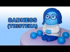 How to make Sadness with gum paste / Cómo hacer a Tristeza con pasta de ...