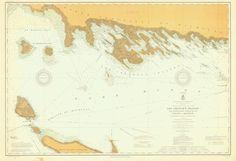 Les Cheneaux Islands (including Mackinac Island) Lake Huron Historical Map - 1911