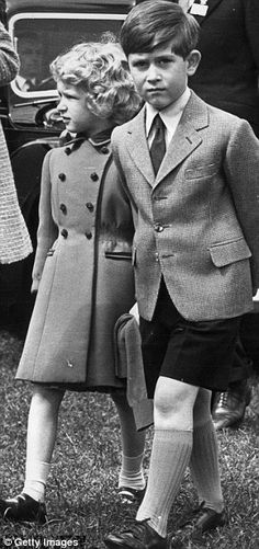 Prince Charles and his sister Princess Anne at the Royal Windsor Horse Show, 12th May 1958