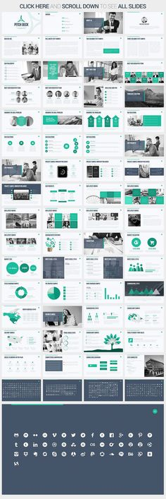 There are a lot of successful companies and workers who are quite sloppy at pitch deck presentations. Build a high-quality professional presentation with Pitch Deck Keynote Template. Professional Powerpoint Templates, Business Powerpoint Templates, Creative Powerpoint, Powerpoint Presentation Templates, Powerpoint Designs, Design Sites, Web Design, Slide Design, Graphic Design