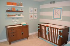aqua, orange, and tan - gender neutral nursery color palette