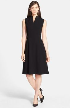 Lafayette 148 New York 'Ava' Tech Cloth Dress. Love the shape overall and the neckline in particular.