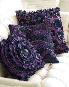 Ruffled Purple Pillows