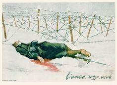 Bianco, rosso e verde :( italiano cartolina WWI.