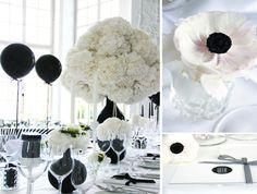Black-White Wedding-Dekoration! Wedding-Wonderland! Organisation: Das Hochzeitswerk Fotografie: Sauerwein Photographie