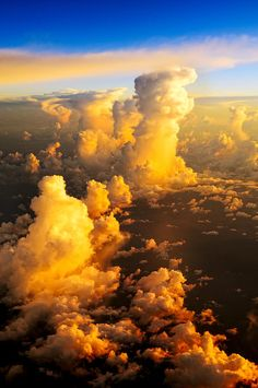 ✮ Aerial Fluffy Clouds