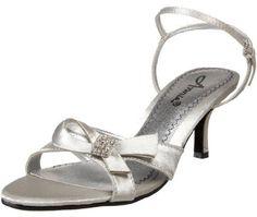Silver Low Heel Dress Shoes | occasion metallic bridal kitten heels low heel silver wedding shoes
