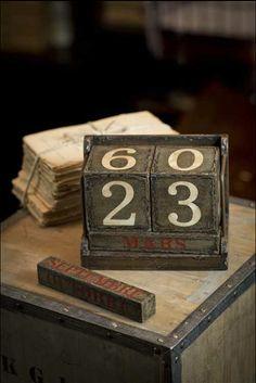 vintage - calendar