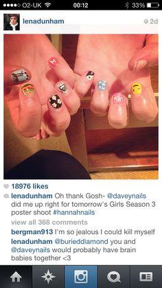 Via Lena dunhams Instagram - love these nails