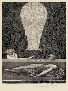 Das Begräbnis Samsons von Ernst Fuchs