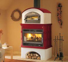 Wood heating stove / traditional / earthenware / with oven INGRID PALAZZETTI LELIO