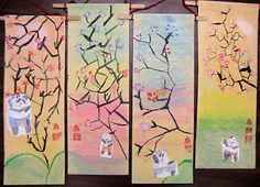 Experiments in Art Education: 2nd Grade I love these scrolls and some other things on the page.