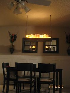 Frugal Home Ideas: PB Knock Off Candle Chandelier Tutorial