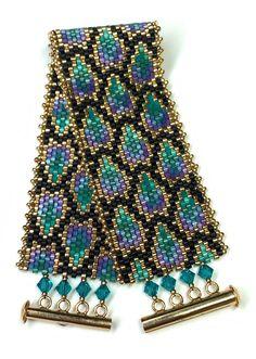 Beaded Braclets, Peyote Beading, Beaded Bracelet Patterns, Peyote Patterns, Seed Bead Bracelets, Seed Bead Jewelry, Bead Earrings, Beadwork, Bracelet Patterns